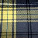 Tartan Plaid Check Polyviscose Fabric 150cm Wide, 190 gsm All Ranges 94 Lemon & Grey
