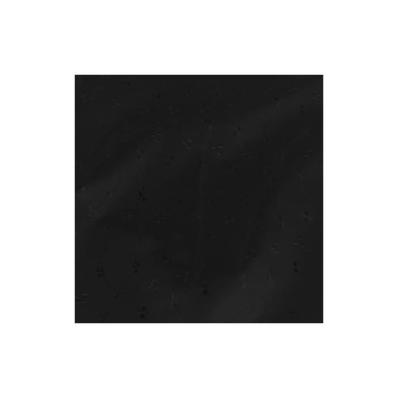 Broderie Anglais 3 Hole Fabric Black