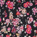 100% Viscose Fabric Summer Dress Floral Flower & Tribal Collection 140cm Wide Summer Drive in Cerise