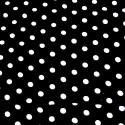 V1926 Black 100% Viscose Fabric Summer Dress Polka Dot Spots & Stars 140cm Wide