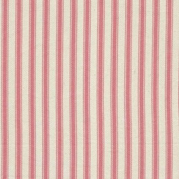 """Pink 100% Cotton Canvas Fabric 8mm Ticking Stripes Woven Soft 53"""" 137cm Wide"""