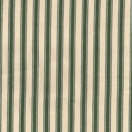 "Olive 100% Cotton Canvas Fabric 8mm Ticking Stripes Woven Soft 53"" 137cm Wide"