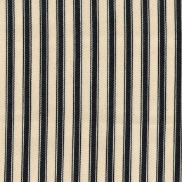 """Black 100% Cotton Canvas Fabric 8mm Ticking Stripes Woven Soft 53"""" 137cm Wide"""
