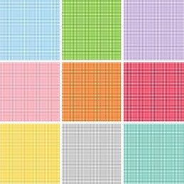 100% Quality Cotton Patchwork Fabric Makower Basic Gingham Squares Check