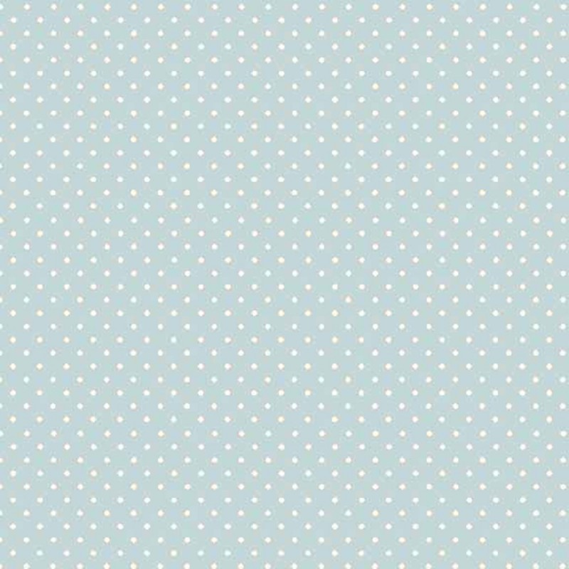 Baby Blue Basic Spot Polka Dots 100% Quality Cotton Quilting Patchwork Fabric (Makower)