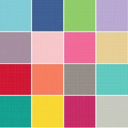 100% Quality Cotton Patchwork Fabric Makower Basic Spot Polka Dots