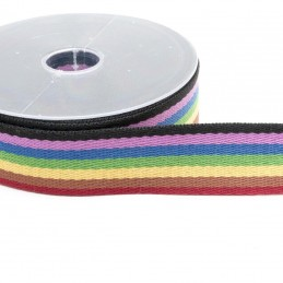 1 Metre 38mm Multi-Striped Webbing Craft Upholstery Strapping