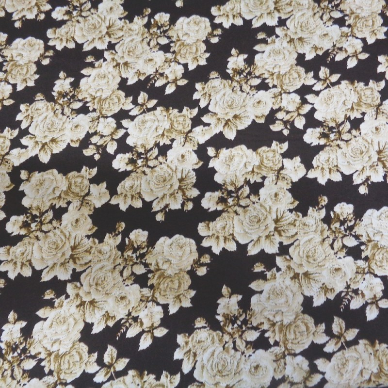 Summery Stems Floral Flower Field 100/% Cotton Poplin Fabric Fabric Freedom