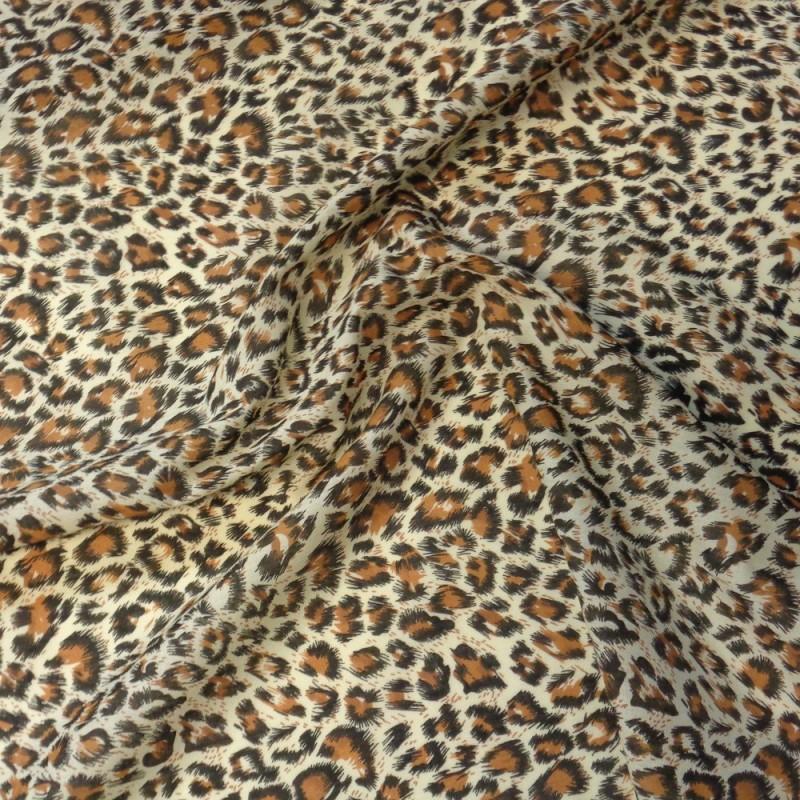 Polycotton Fabric Animal Print Cheetah Hyena