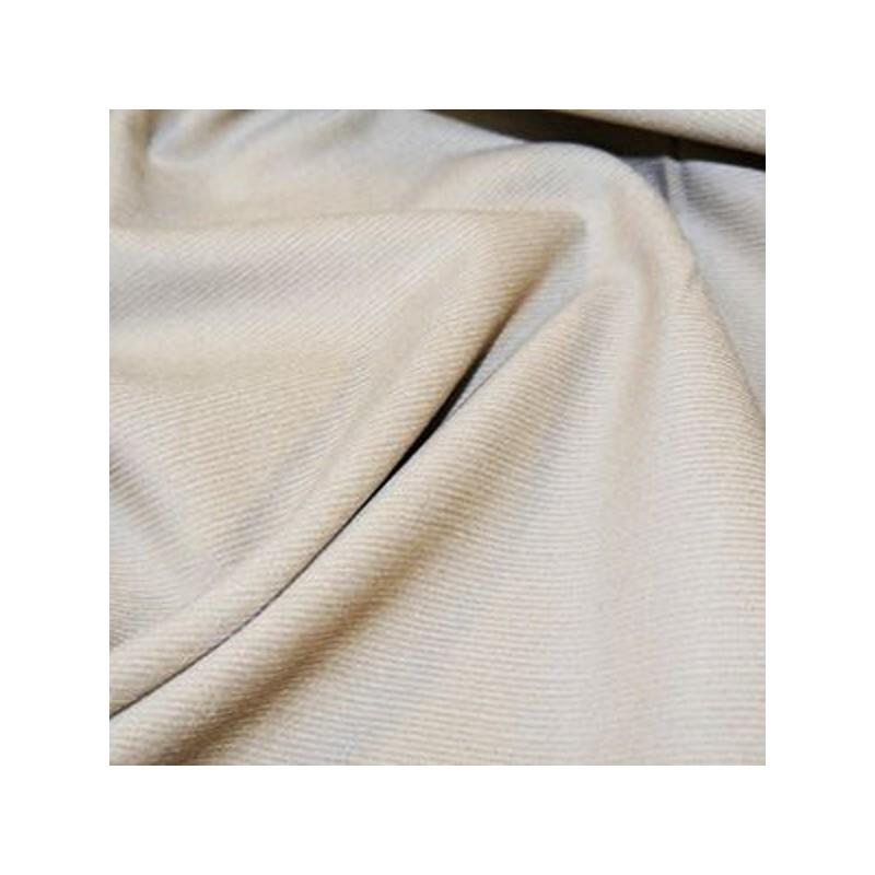 Beige Plain 21 Wale Cotton Corduroy Fabric John Louden Soft Needlecord 140cm Wide
