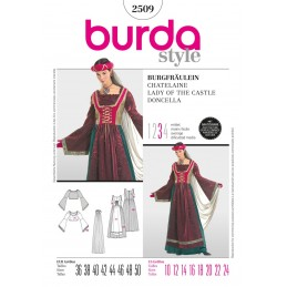 Burda Sewing Pattern 2509 Lady Of The Castle Vintage Fancy Dress Costume