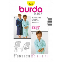 Burda Sewing Pattern 6226 Kids Boys & Girls Dressing Gown Bathrobe House Coat