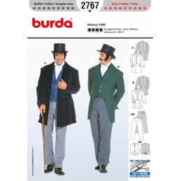 Burda Sewing Pattern 2767 Men's Historical 1848 Formal Suit Cosume