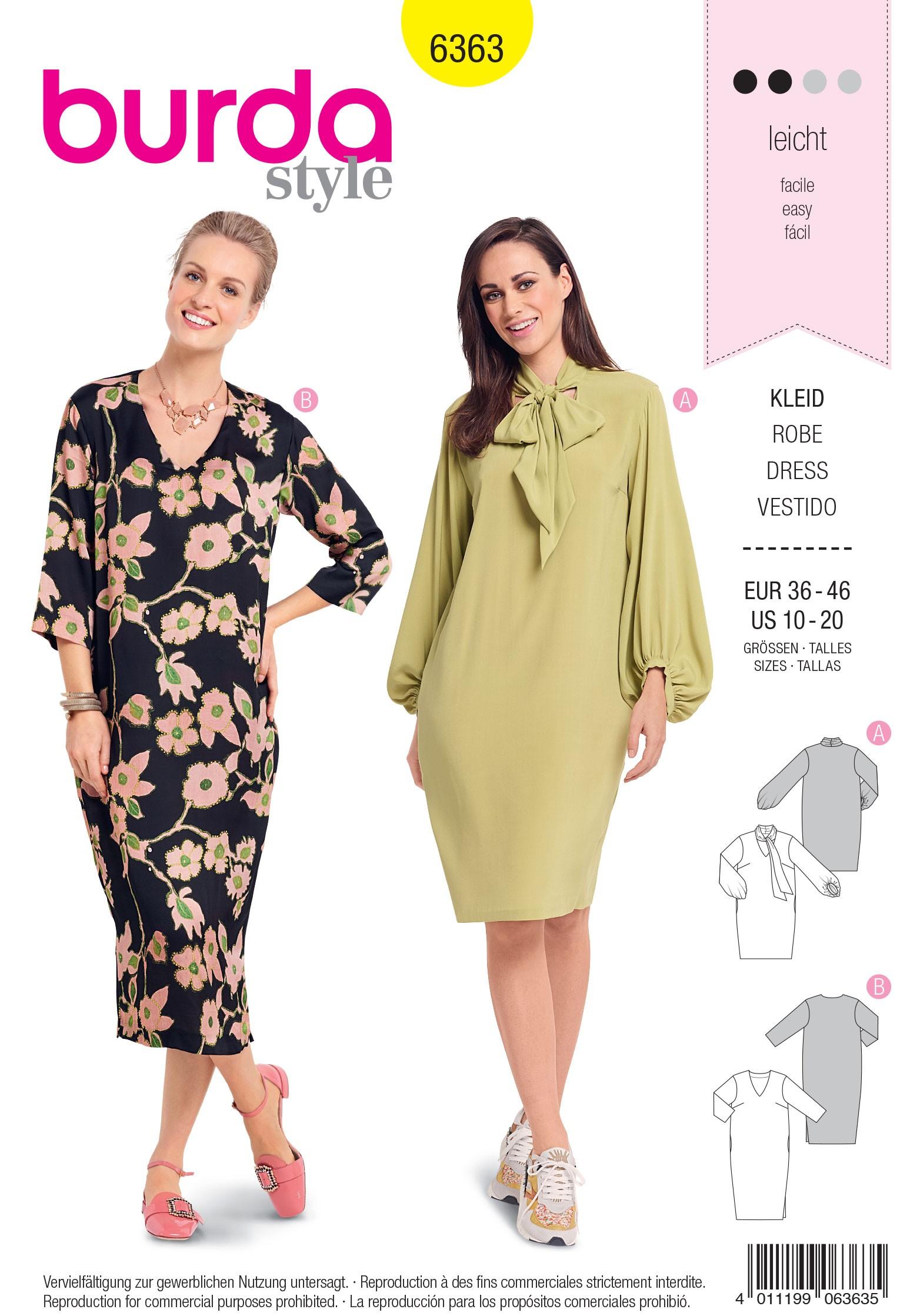 Burda Sewing Pattern 6360 Style Misses' Sporty Parka Rain Coat Jacket