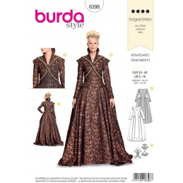 Burda Sewing Pattern 2768 Historical Hooped Skirt 1848 Fancy Dress Costumes