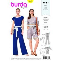 Burda Sewing Pattern 6433 Woman's Light Summer Jumpsuit