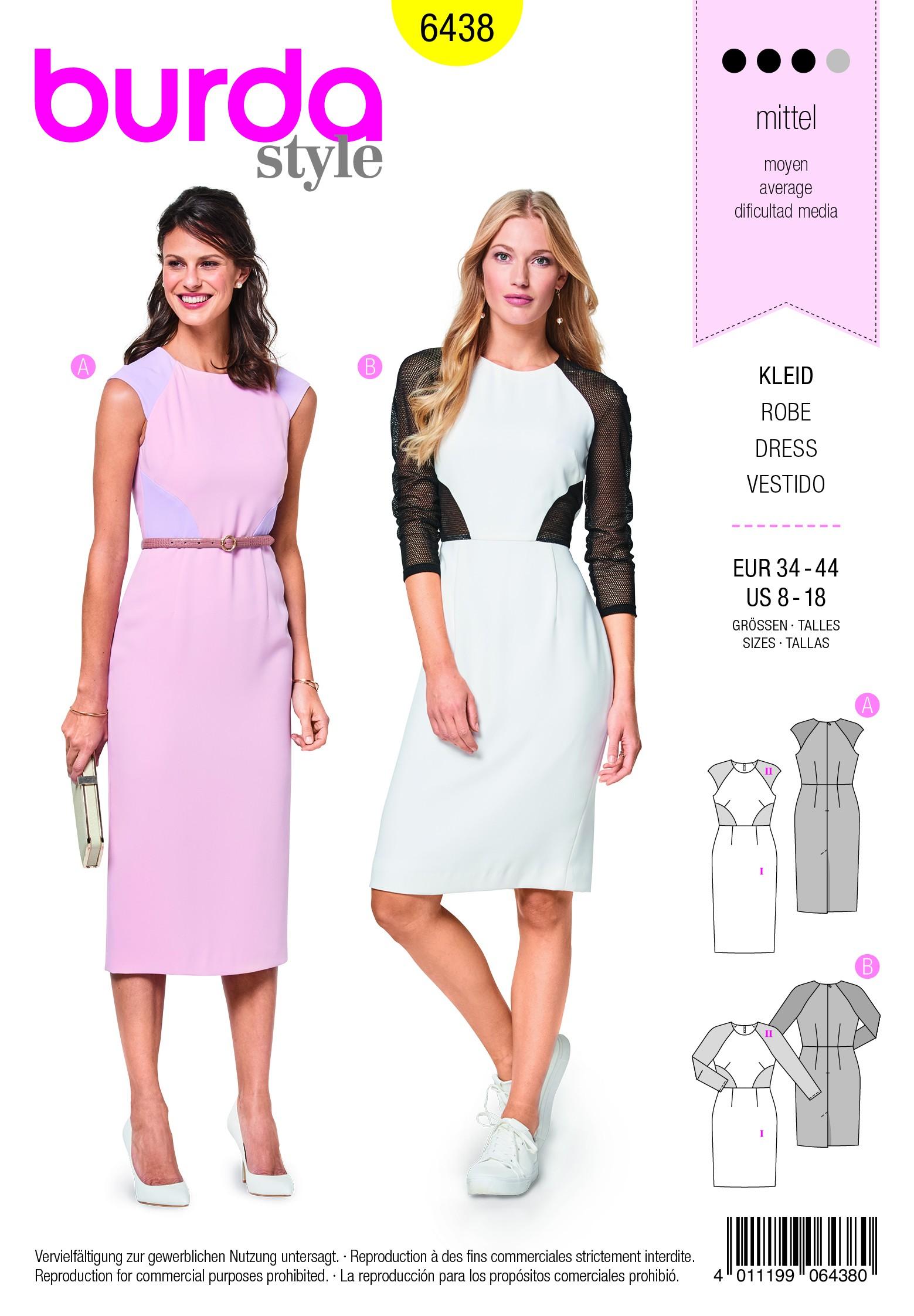 Burda Sewing Pattern 6363 Woman's Loose Fitting Traditional Style Dress
