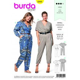 Burda Sewing Pattern 6443Woman's Charming Jersey Dress and Shirt