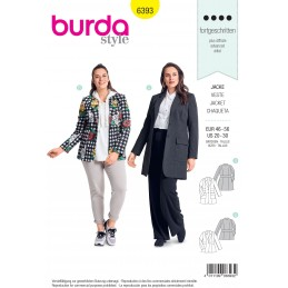 Burda Sewing Pattern 6393 Style Womans' Plus Size Classic Shaped Blazer