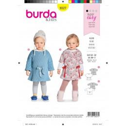 Burda Sewing Pattern 9327 Style Infant Girls Baby's Comfortable Dress