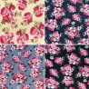 100% Cotton Fabric Realistic Floral Flowers Leaves Bunched Rose Heads 145cm Wide