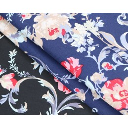 100% Cotton Fabric Blossoming Garden Floral Flowers 145cm Wide