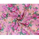 100% Cotton Fabric Becky's Beautiful Blooms Bunched Floral Flowers 145cm Wide Pink