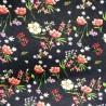 Chiffon Print Dress Bridal Fabric Poppies Poppy Floral Flowers 150cm Wide