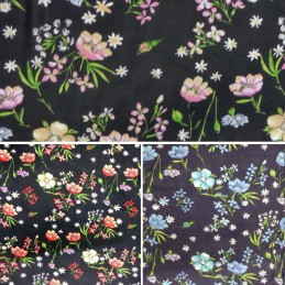 Chiffon Print Dress Bridal Fabric Poppies Poppy Floral Flowers 150cm Wide