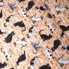 100% Japanese Cotton Fabric Sevenberry Kitty Cats Kittens Brick Wall Pet Animal