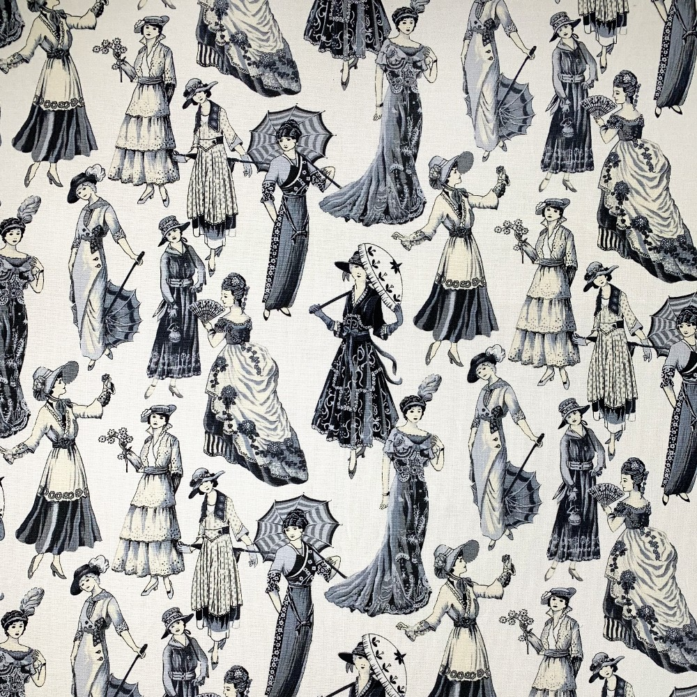 100% Cotton Patchwork Fabric Nutex Victorian Ladies Evening Wear