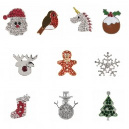 1 x Christmas Festive Xmas Diamante Loose Shank Back Button Buttons