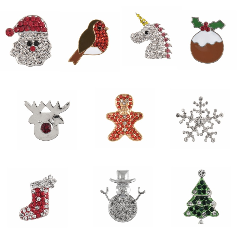 1 x Christmas Festive Xmas Diamante Loose Shank Back Button Buttons Gingerbread Man