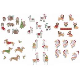 Trimits Christmas Stick On Card Making Embellishments Novelty Festive