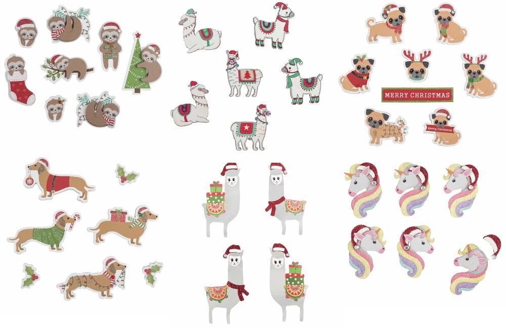 Festive Llamas: 4 Pieces