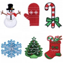 Trimits Sew on & Iron On Motifs Christmas Tree Snowman Glove