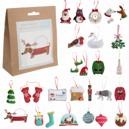 Trimits Christmas Felt Decoration Kit Sewing Craft Haberdashery Xmas