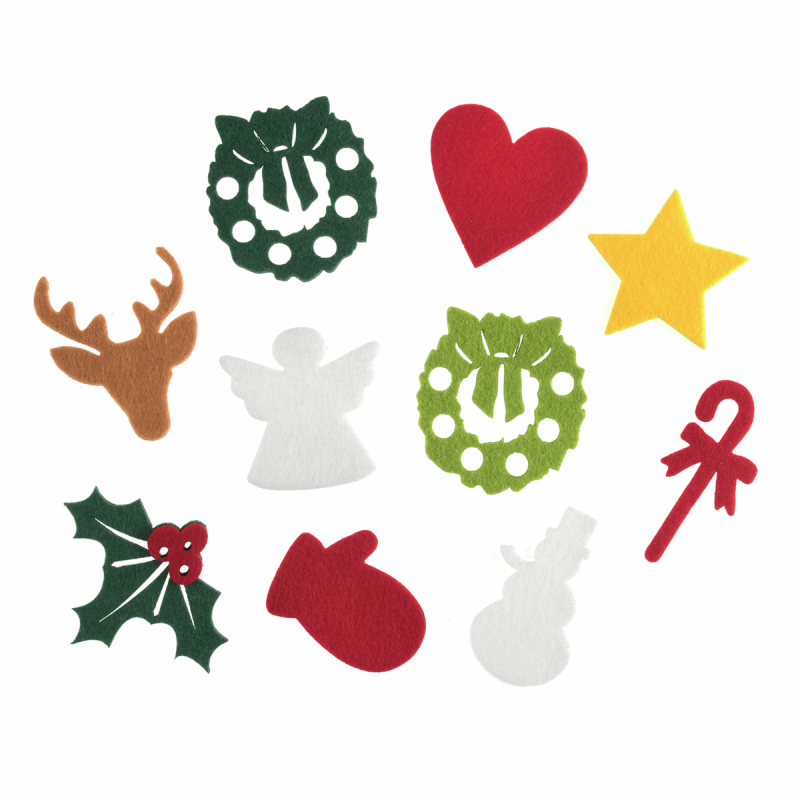 Christmas Designs.Trimits Felt Shapes Sew On Or Iron On Christmas Designs 20 Pieces