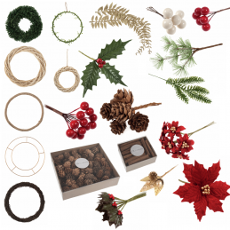 Occasions Christmas Wreath Making Decorations Accessories Xmas Festive