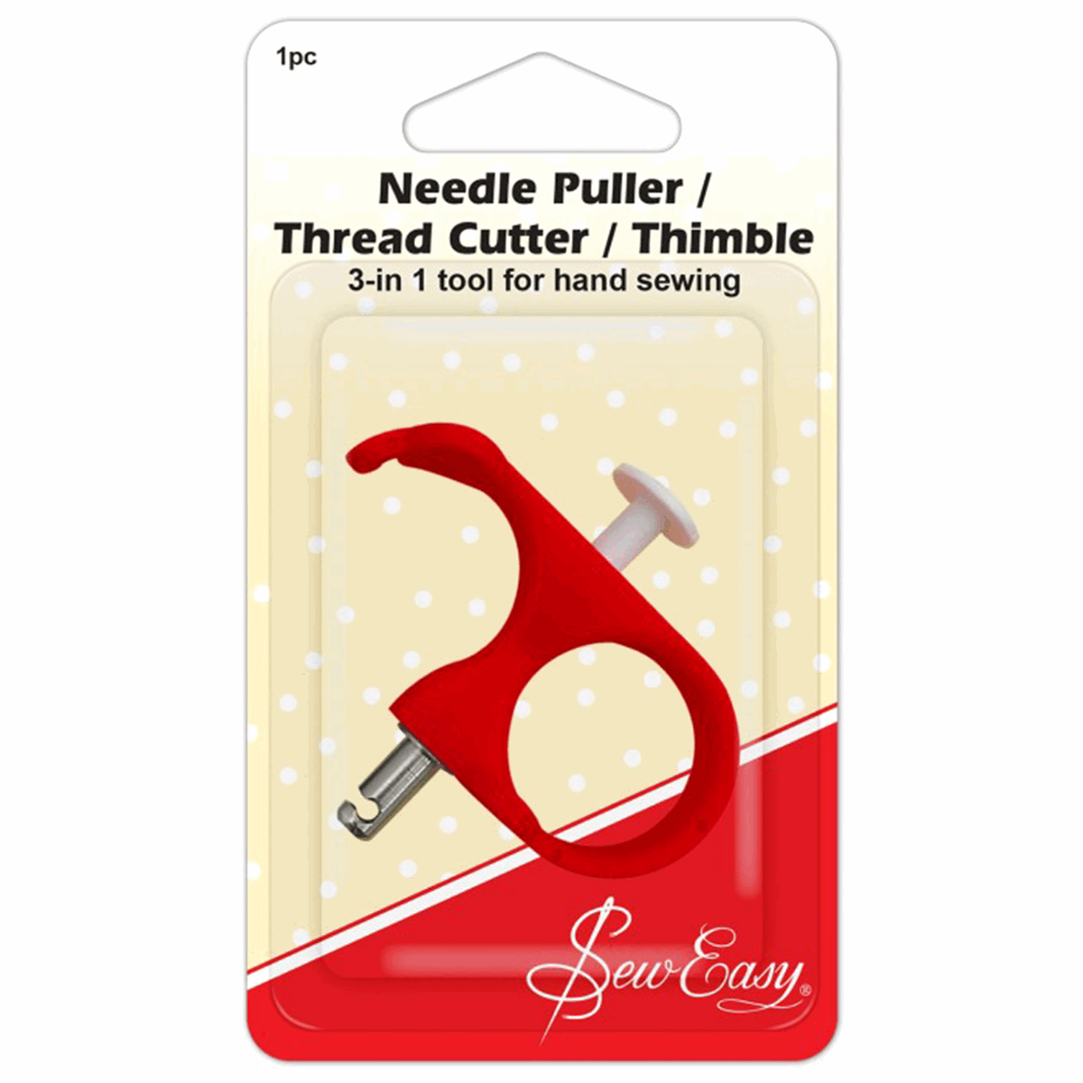 Sew Easy 3-in-1 Thimble/Cutter/Puller Tool