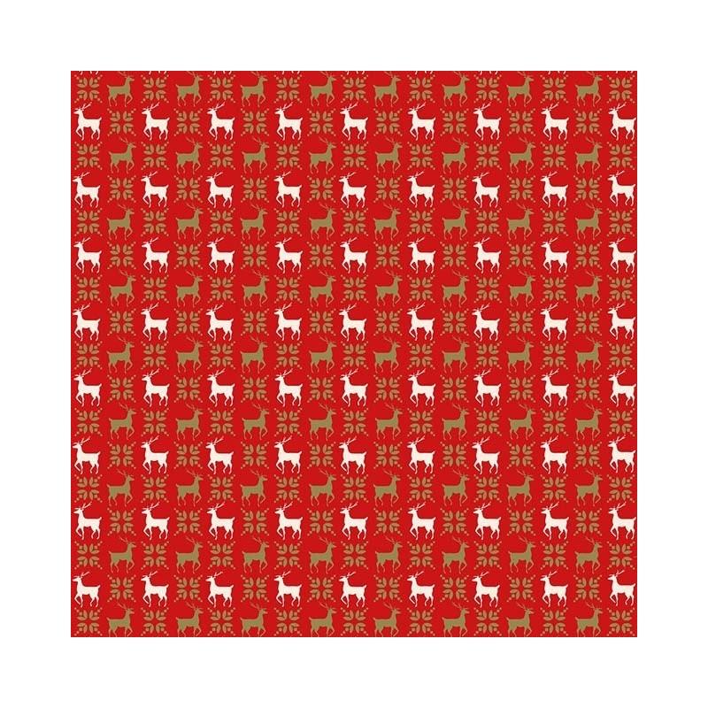100% Cotton Fabric Christmas Holly Leaf Festive Xmas Festive 140cm Wide Red