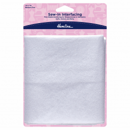 Hemline Sew In Interfacing White Medium-Firm 1m x 1m