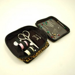 Magnetic Royal Gold Floral Sewing Kit