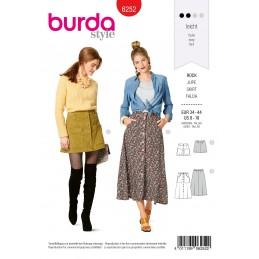 Burda Style Sewing Pattern 6252 Women's Button Detail Skirts Length Options