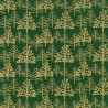 100% Cotton Fabric John Louden Metallic Print Linear Christmas Tree Xmas Festive