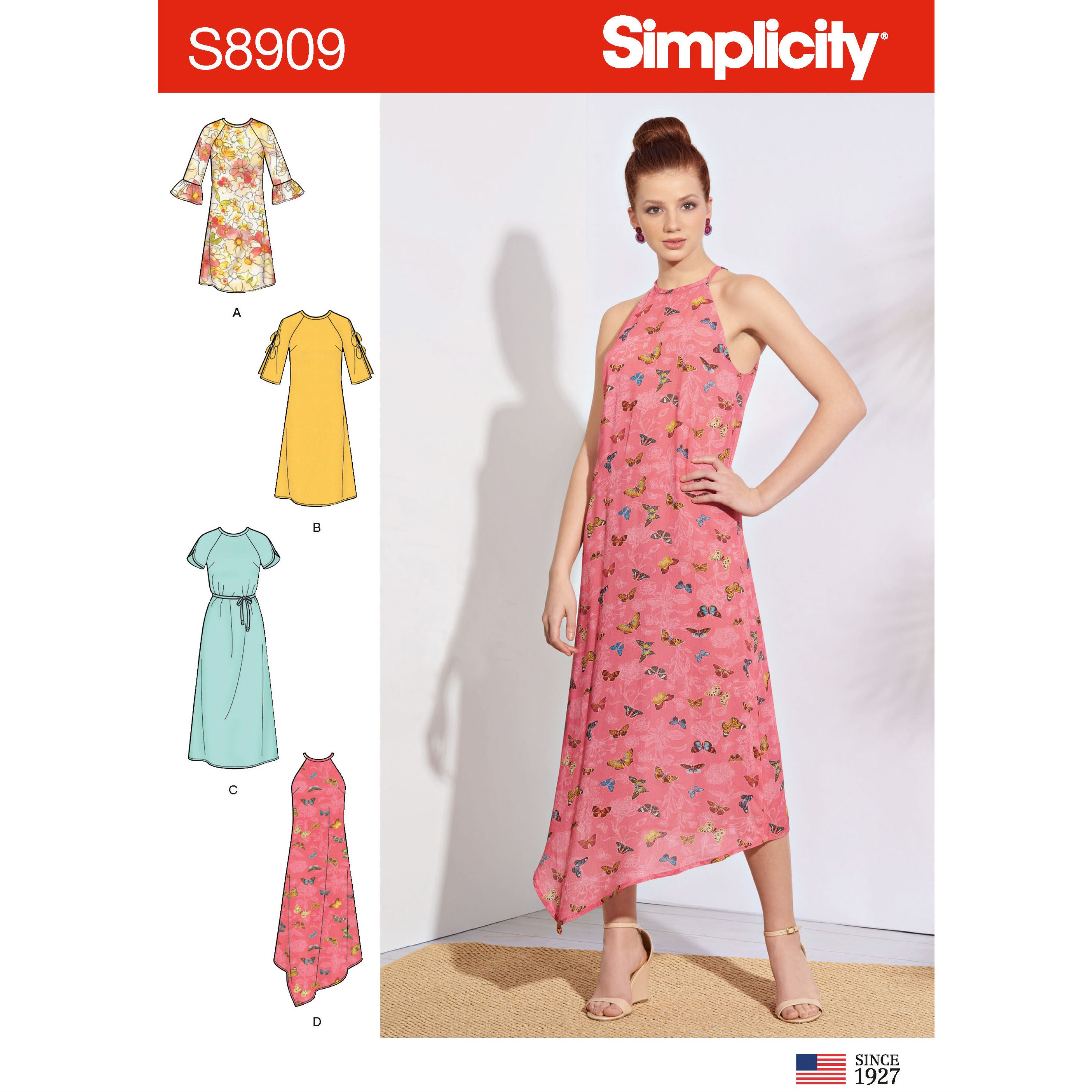 Simplicity Sewing Pattern 8909 Misses' Slip on Dress with Sleeve Options