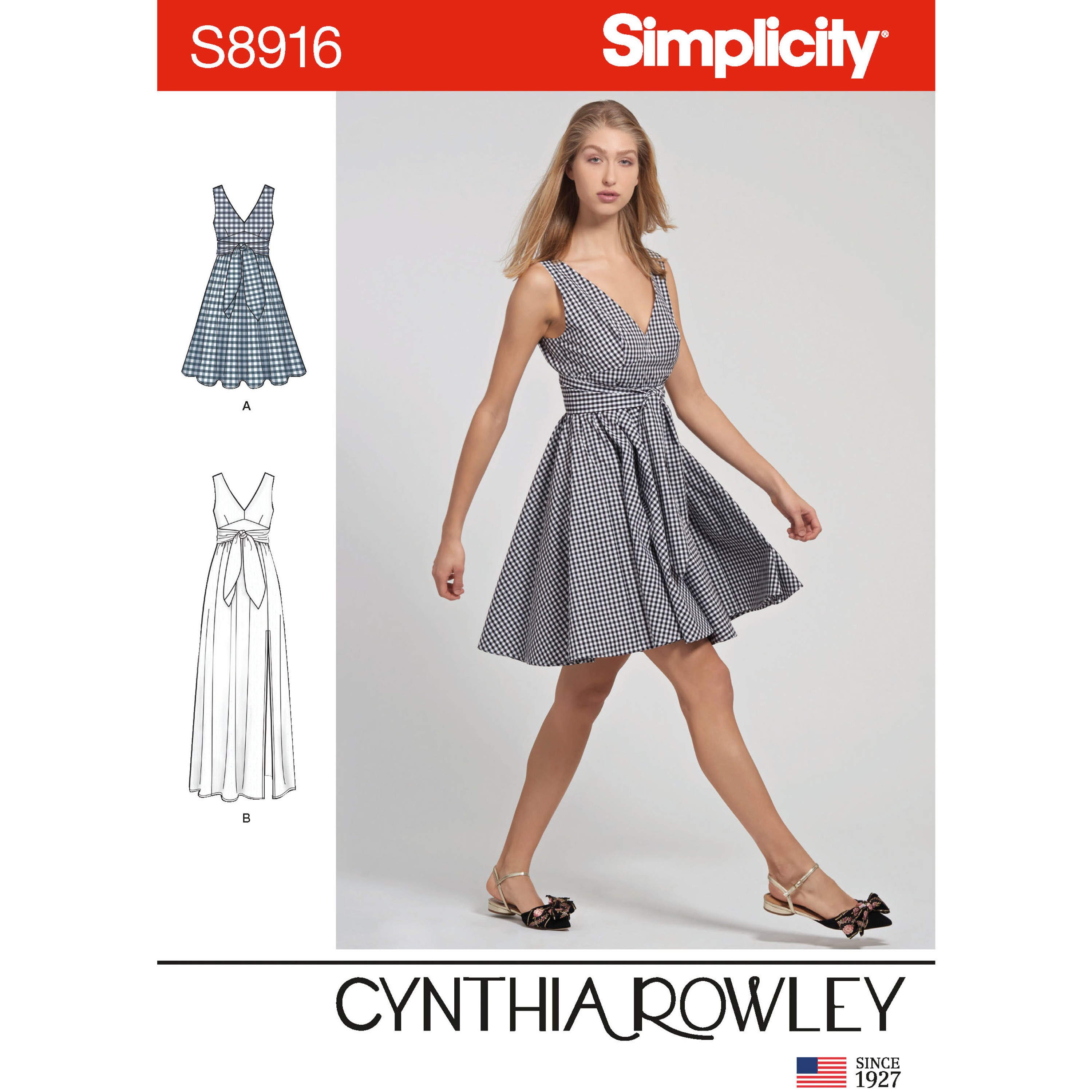 Simplicity Sewing Pattern 8916 Misses' Cynthia Rowley V Neck Dress