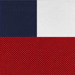 100% Cotton Fabric John Louden Metallic Print Polka Dot Falling Spots Christmas