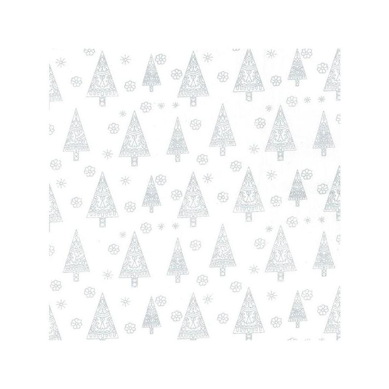 100/% Cotton Fabric John Louden Metallic Print Snowflakes Snow Christmas Sparkle