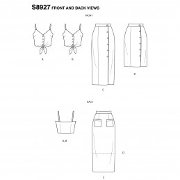 Simplicity Sewing Pattern 8927 Misses' Tie Front Shirt & Skirt by Mimi G Style